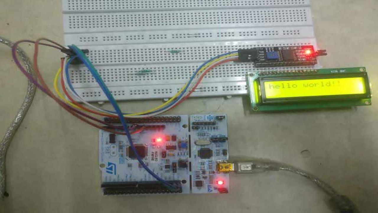 Connecting LCD via I2C with STM32 - Controllerstech com